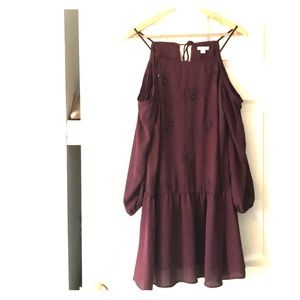 """Dresses & Skirts - Plum """"Cold Shoulder"""" Dress"""